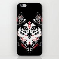 American Indian wolf iPhone & iPod Skin