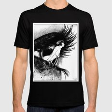 asc 602 - La spectatrice (Valentina at the gallery) MEDIUM Black Mens Fitted Tee