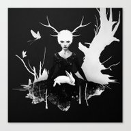 Space Within Canvas Print