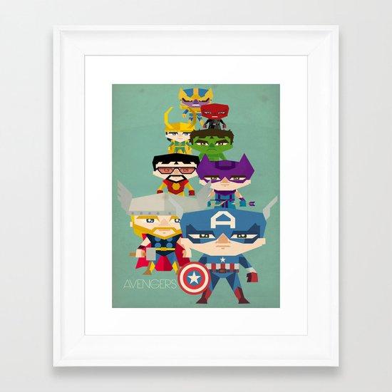 avengers 2 fan art Framed Art Print