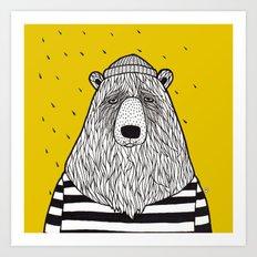 SAILOR BEAR Art Print