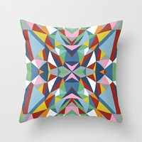 Abstract Kite Throw Pillow