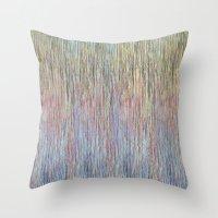 sparkly rain Throw Pillow