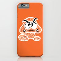 iPhone & iPod Case featuring Goomba #CrackedOutBadGuys by Halucinated Design