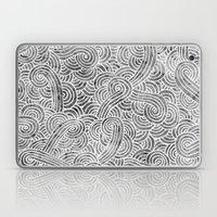 Grey And White Doodles Laptop & iPad Skin