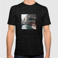 The Bridge Mens Fitted Tee Tri-Black SMALL