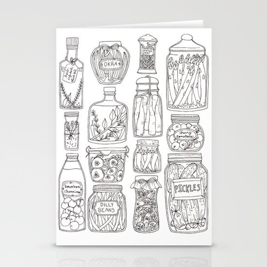 Pickles Print Stationery Card