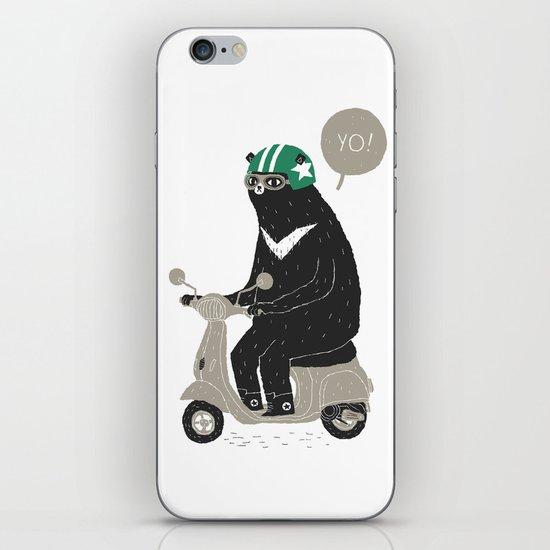 scooter bear iPhone & iPod Skin