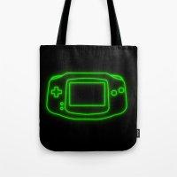 Neon Game Boy Advance Tote Bag
