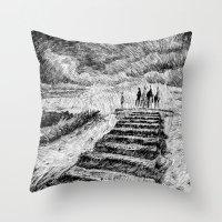 Storm - Ink Throw Pillow