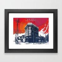 Save Detroit Framed Art Print