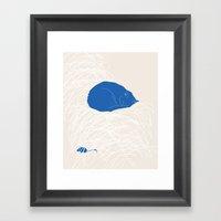 Blue Cat Poster Framed Art Print
