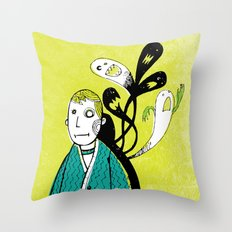 Everybody Has a Ghost or Two Throw Pillow