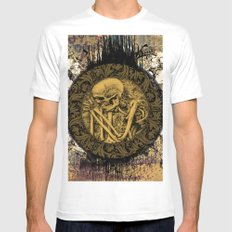Skeleton with flowers Mens Fitted Tee White SMALL