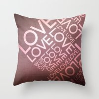 L O V E {I} Throw Pillow