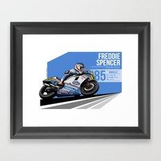 Freddie Spencer - 1985 Mugello Framed Art Print