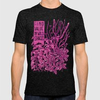 Find Value in Wild Spaces Mens Fitted Tee Tri-Black SMALL