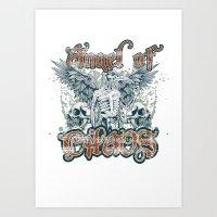 Angel of chaos Art Print
