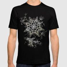 Zendala snowflake denim SMALL Mens Fitted Tee Black