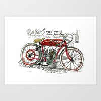 SIMÓ, 1924, Motorcycle … Art Print