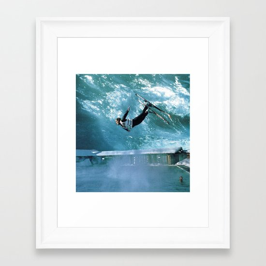 high and dry... Framed Art Print