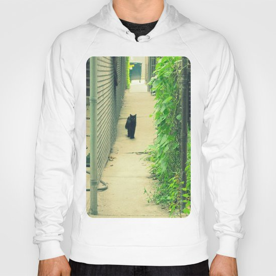 Black Cat With Gangway Ivy  Hoody