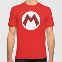 Mario Hero Mens Fitted Tee Red SMALL