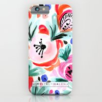 Tropical Sunrise Morning Glory Boho Watercolor Floral iPhone 6 Slim Case