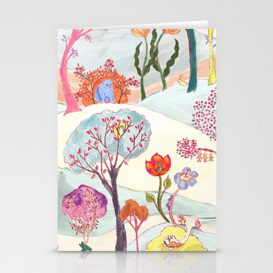 Garden Party - Print Stationery Card