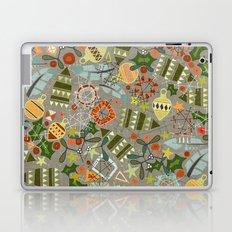 vintage christmas silver Laptop & iPad Skin