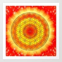 Mandala Blume des Lebens Art Print