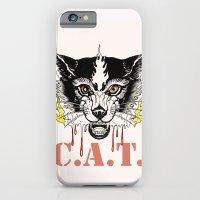 Space Cat King Fire iPhone 6 Slim Case