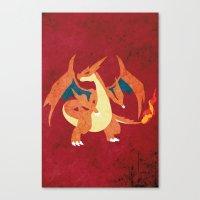 Mega Charizard Canvas Print