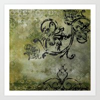 Green Patterns Art Print