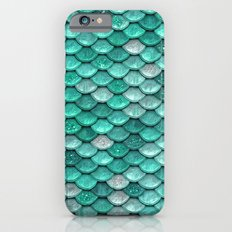 light turquoise sparkling scales II iPhone 6s Slim Case