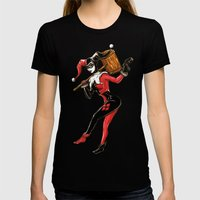 Harley Quinn  Womens Fitted Tee Black SMALL