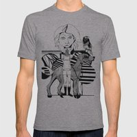 The Girl, Her Dog And A … Mens Fitted Tee Athletic Grey SMALL