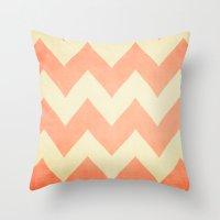 Fuzzy Navel - Peach Chev… Throw Pillow