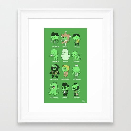 Cthul-Who?  Framed Art Print