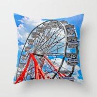 Red, White & Blue Ferris… Throw Pillow