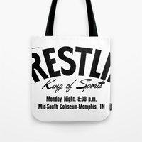 Wrestling Logo From Decades Ago Tote Bag