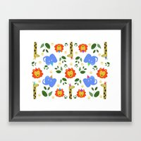 Happy Animals Framed Art Print