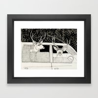 Nella Foresta Framed Art Print