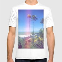 Fragmented Palm Mens Fitted Tee White SMALL