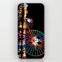 Paradise Pier at Night iPhone & iPod Skin