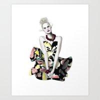 Colourful Dress Art Print