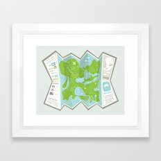 Totally Inaccurate Map of Gifford Pinchot State Park Framed Art Print