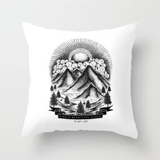 FIND A BEAUTIFUL PLACE TO GET LOST (White) Throw Pillow