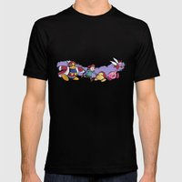 Kirby Friends Mens Fitted Tee Black SMALL