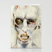 zombie Stationery Cards featuring Zombie by Michael Scott Murphy
